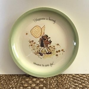 VTG Holly Hobbie Happiness Someone Care for Plate